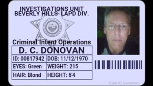 Phony police ID