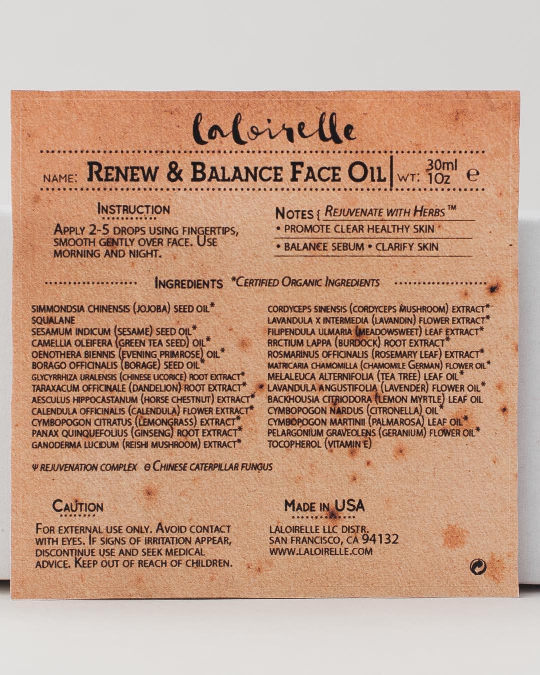 Renew and Balance Face Oil – Laloirelle 03