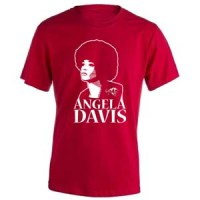camiseta angela davis roja