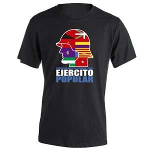 camiseta ejercito popular negra
