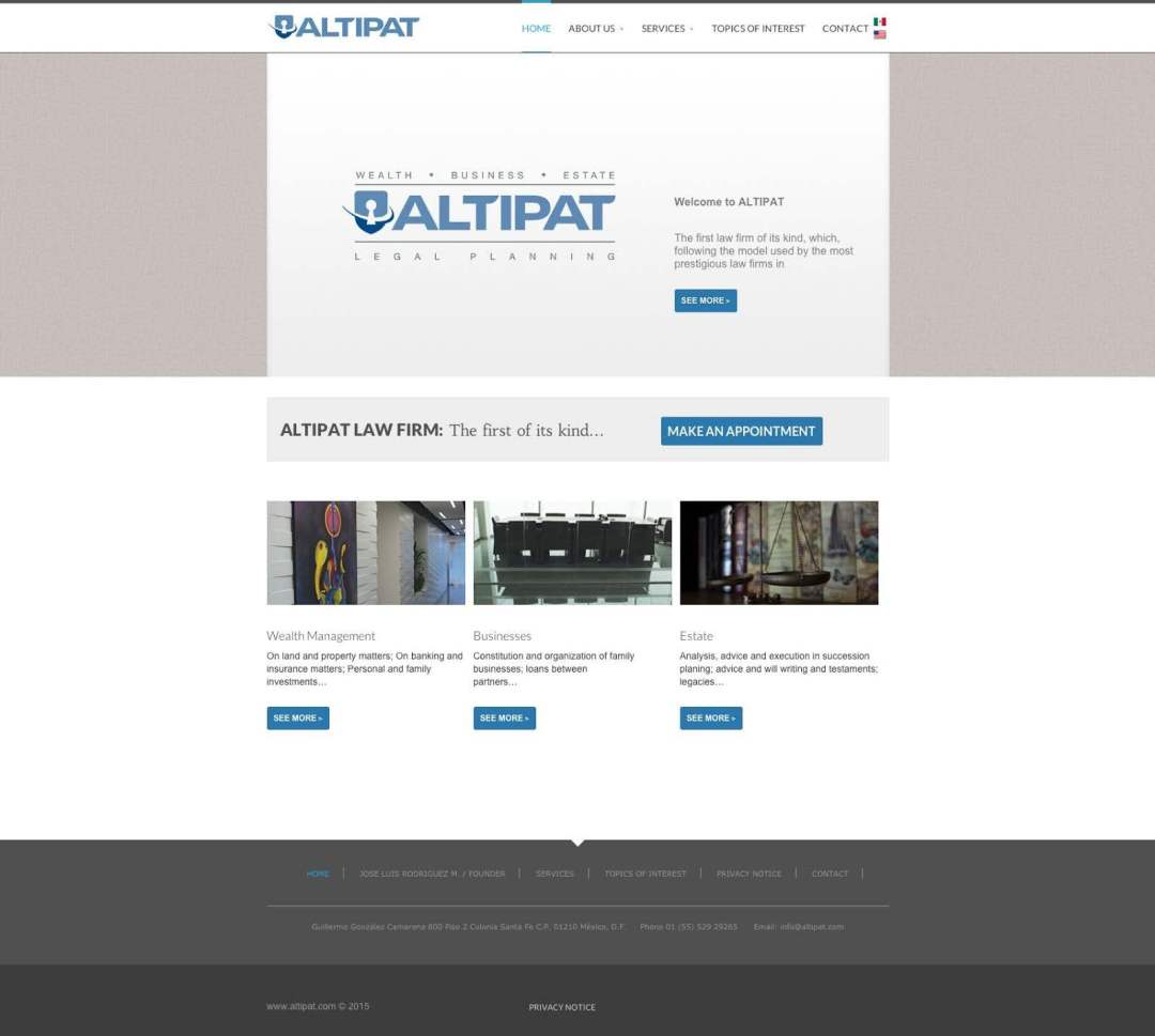Desarrollo Web de Altipat por Lalo Marquez
