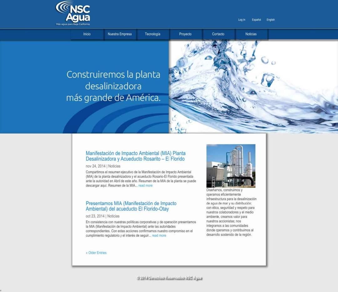 Desarollo Web de NSC Agua por Lalo Marquez