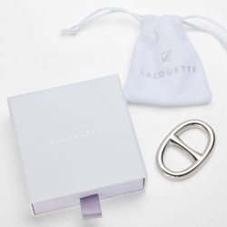 Lalouette large oval scarf ring with packaging