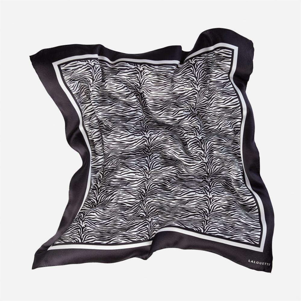 Lalouette zebra silk scarf in air