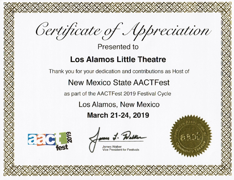 AACTFest – March 2019 | Los Alamos Little Theatre