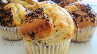 Muffin con gotitas de chocolate negro