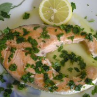 Trancio di salmone al limone
