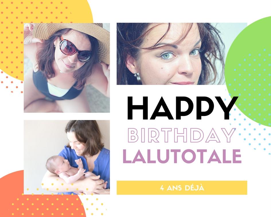 anniversaire blog beauté maternité merci concours 4 ans maman