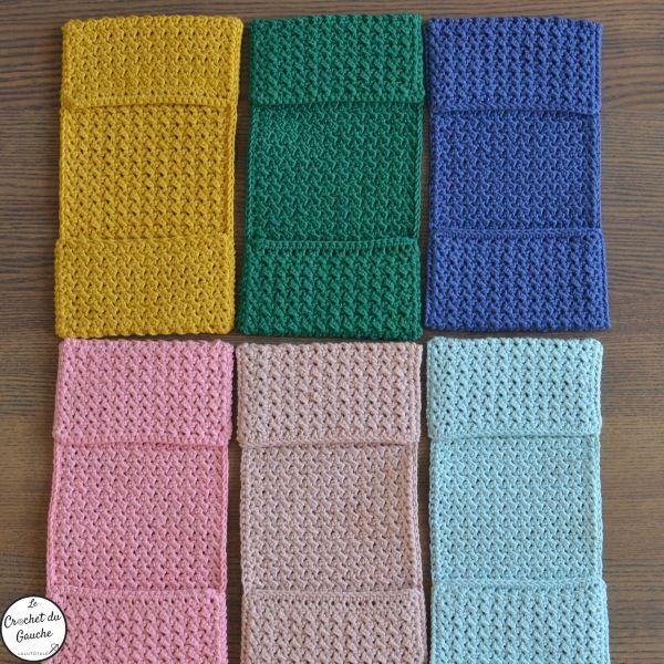 couleurs Thérèse lingette lavable crochet