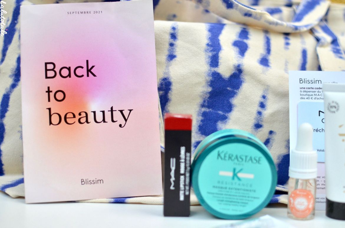 haul unboxing blissim back to beauty