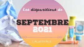 disparitions produits beauté septembre 2021