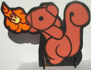 """12"""" x 16"""" Two sided, hand cut, free standing figures"""