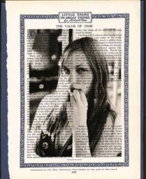 """11"""" x 12' framed Mixed Media Photo printed on antique book page"""