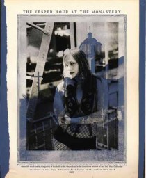 """8"""" x 9"""" Unframed 11"""" x 12' framed Mixed Media Photo printed on antique book page $600.00"""