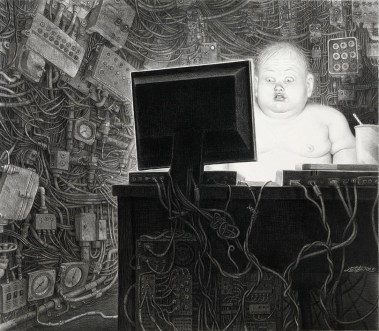 """Charcoal and graphite on paper, framed 23"""" x 20"""" $3,500.00 Sold"""