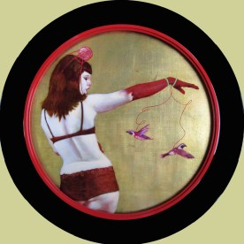 """Oil on gold-leafed panel 24"""" x 24"""" $2,800.00"""