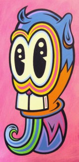 "Acrylic on wood 12"" x 24"" $750.00"