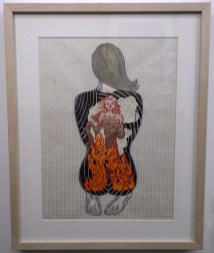 """Collaged, hand-made relief print on paper 12"""" x 16"""" in 20.5"""" x 28.25"""" frame $600.00"""