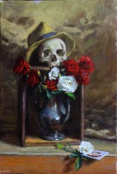 """Oil on canvas 16"""" x 24"""" in 17"""" x 25"""" frame $1,800.00"""