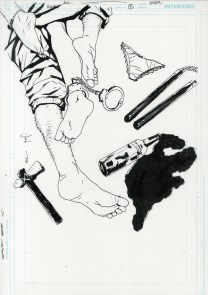 """Issue 5, Cover: Hoka Hey Conclusion Graphite and ink on board 11.2"""" x 17"""" Sold"""