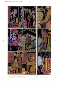 "Issue #6, page 19: Rorschach Origin Digital color proof (1/1) signed by artists with C.o.A. 11"" x 17"" Sold"