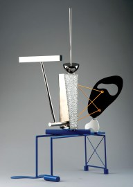 """Stainless steel and enamel 36.5"""" x 14"""" x 24"""" $17,500.00"""