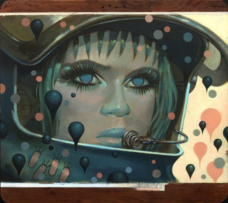 """Acrylic on wood 33.25"""" x 30"""" $7,000.00 Sold"""