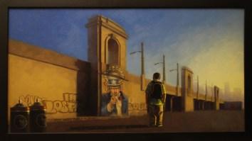 "Oil on canvas 36"" x 20"" $2,500.00"