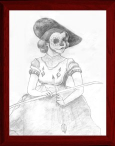 """Graphite on paper 11"""" x 14"""" $75.00 Sold"""