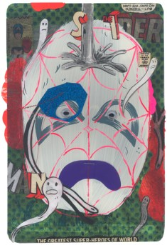 "Mixed media collage on paper 6.75"" x 10.25"" $400.00 Sold"
