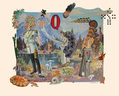 "Collage on paper 22"" x 18"" $3,300.00"