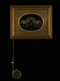 "Oil on canvas with chain and magnifying glass 4.75"" x 3.75"" $350.00 Sold"