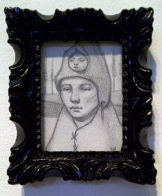 "Graphite on paper 2"" x 3"" $80.00 Sold"