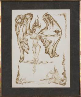 """Pen and blood on paper 8"""" x 11"""" $1,500.00"""