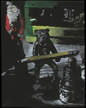 "Oil on canvas 11"" x 14"" $40,000.00"