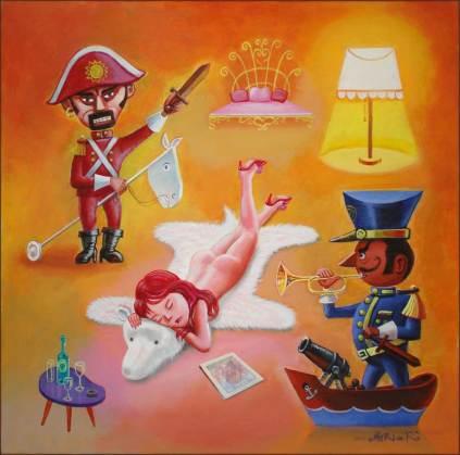 """Acrylic on canvas 27.5"""" x 27.5"""" $2,500.00"""