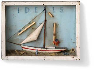 """Found object and mixed media 15"""" x 11.5"""" x 3"""" $1,250.00"""