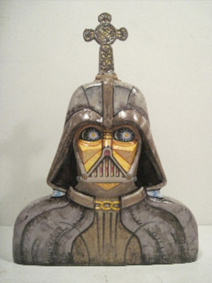 John de Fazio - Cubist Darth Vader Crematory Urn
