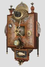 9.5 x 16 x 5.5 in. Mixed media assemblage $550.00 Sold