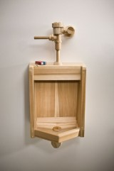 20 x 38 x 16 in. Acrylic, wood & concrete $6,500.00
