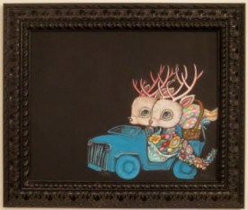 20 x 16 in. / 21.5 x 25.5 in. framed, Acrylic on canvas $850.00 Sold