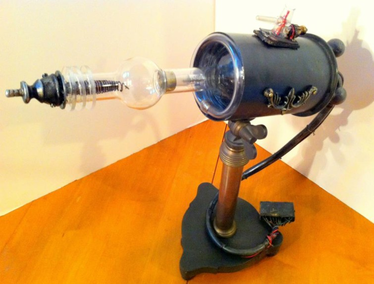 19 x 17 x 5 in. Bronze, vintage lab glass, mixed media $1,500.00