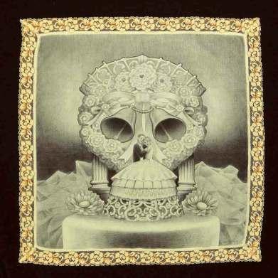 16 x 16 in. Ballpoint on handkerchief $600.00 Sold