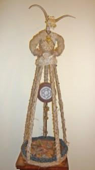 11 x 38 x 11 in. Mixed media fabric & bone assemblage $550.00