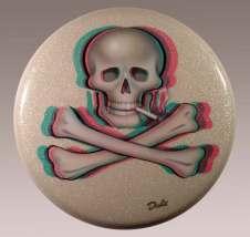 20 in. tondo, Acrylic and glitter on vinyl $1,650.00