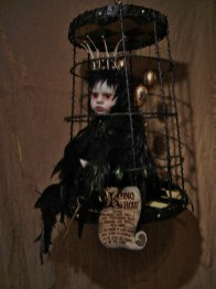 16 x 24 x 16 in. Mixed Media Taxidermy Assemblage (free hanging cage) $4,000.00