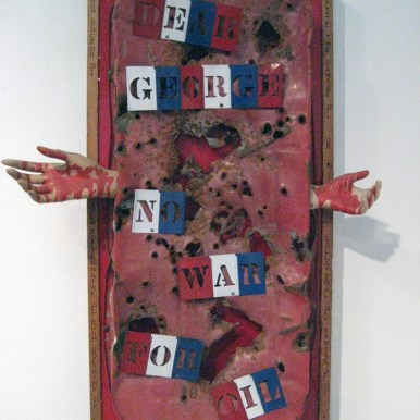28.5 x 16 x 16 in. Mixed media found objects $5,000.00