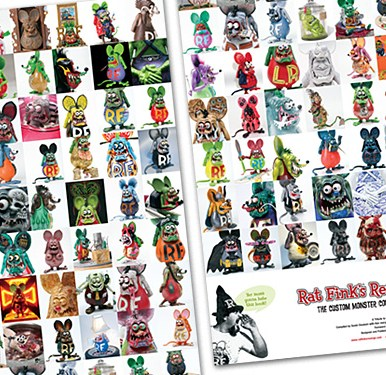 Limited edition poster 83 artists' images compiled 11 x 34 in. folds down to 11 x 8.5 in. $15.00