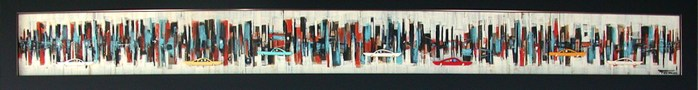4.5 x 48 in. / 7 x 51.5 in. frame, Acrylic on cut and shaped masonite $900.00 Sold