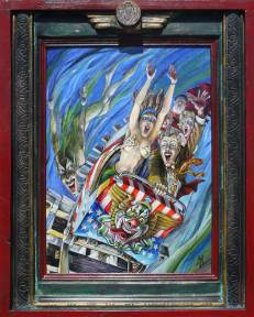 Harold Fox - Demon of the Cyclone14 x 10.5 in. / 18.75 x 15.125 in. framed, Oil on masonite $750.00 Sold